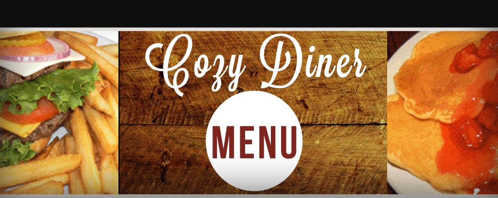 Cozy Diner Menu Slide